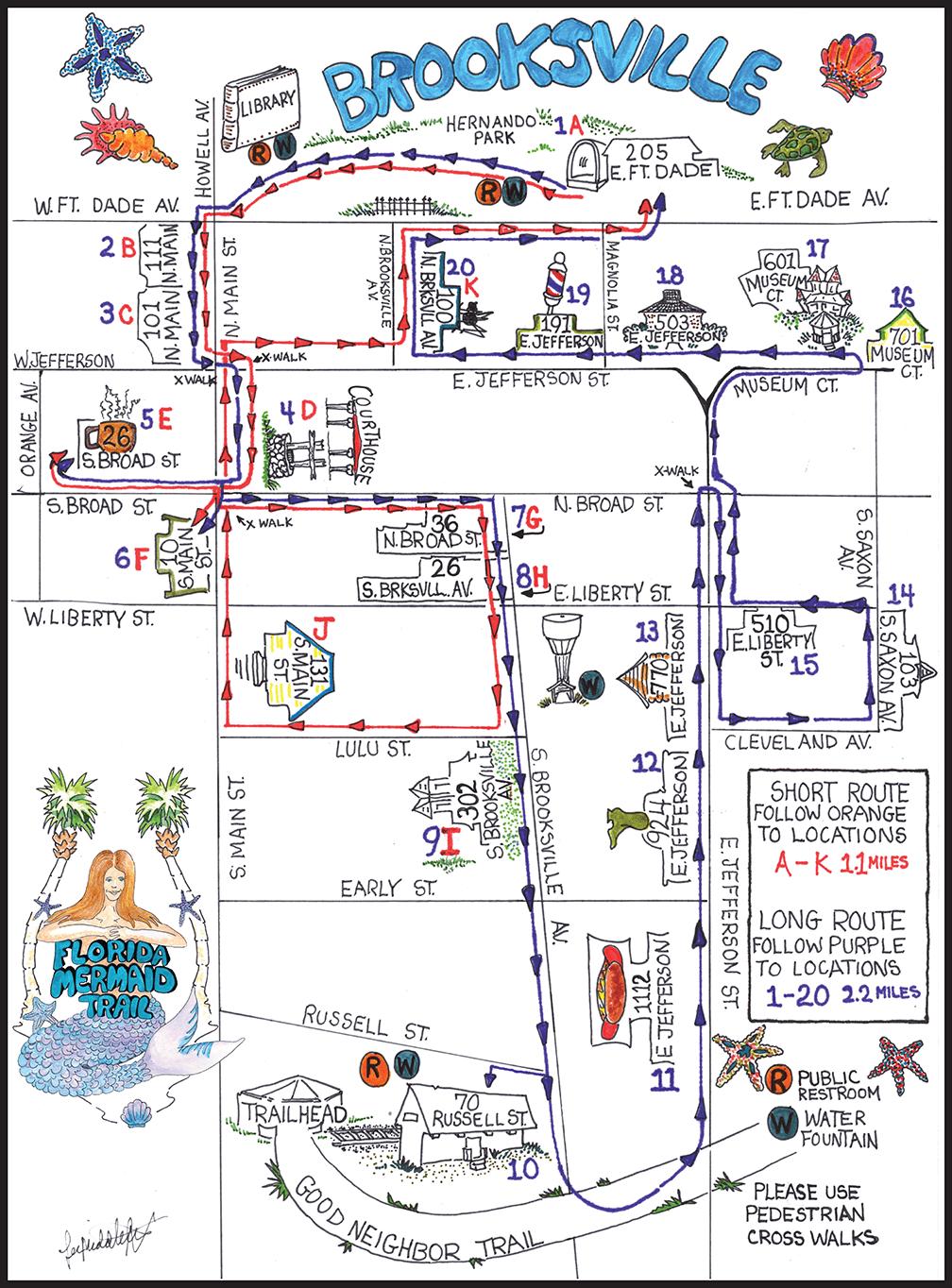 Florida Mermaid Trail Map
