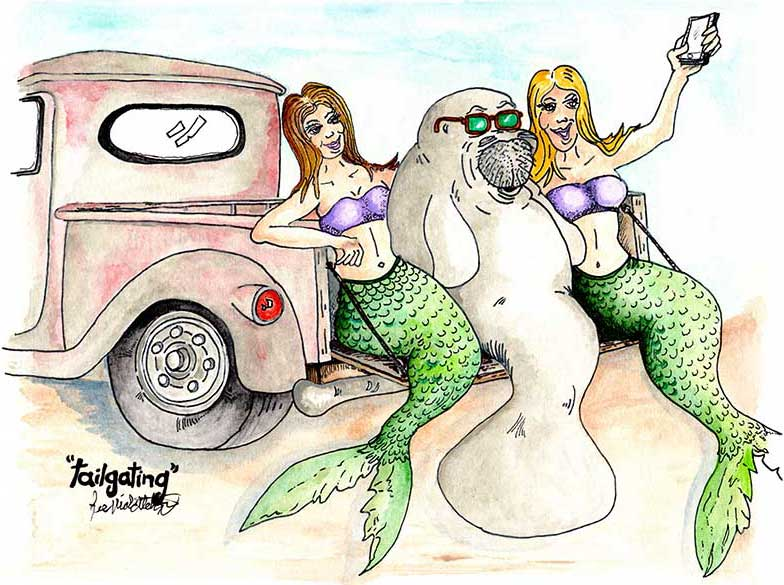 Tailgating Mermaids & Manatees