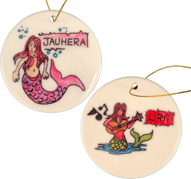 Florida Mermaid Trail Christmas tree ornaments 2020